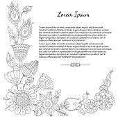 doodle floral greeting card