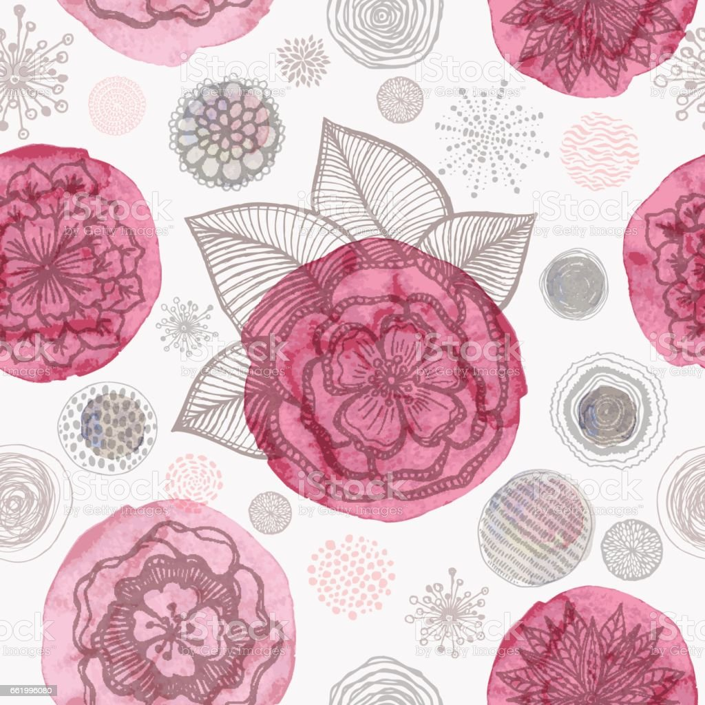 Doodle floral seamless pattern royalty-free doodle floral seamless pattern stock vector art & more images of abstract