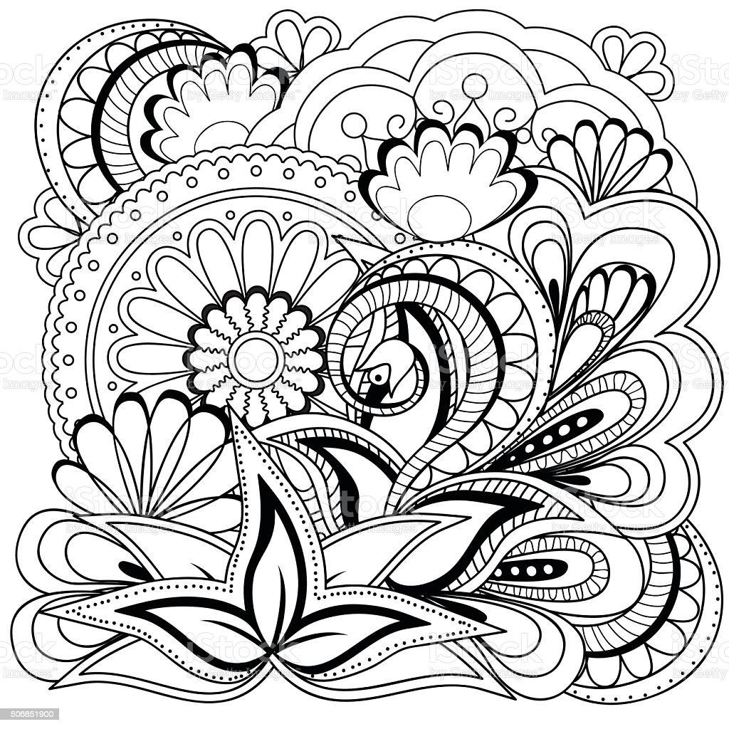 Fiori Mandala.Doodle Fiori E Mandala Immagini Vettoriali Stock E Altre