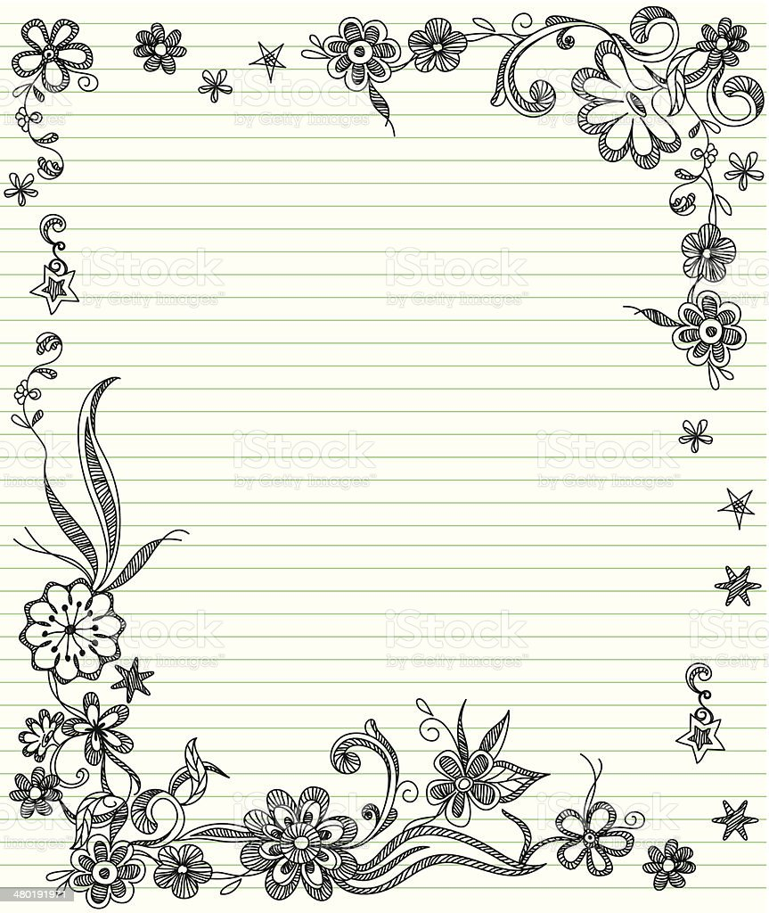 Charming Lined Paper With Borders For Lined Border Paper