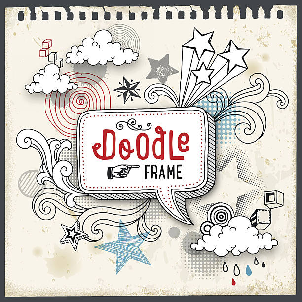 doodle frame - school backgrounds stock illustrations, clip art, cartoons, & icons