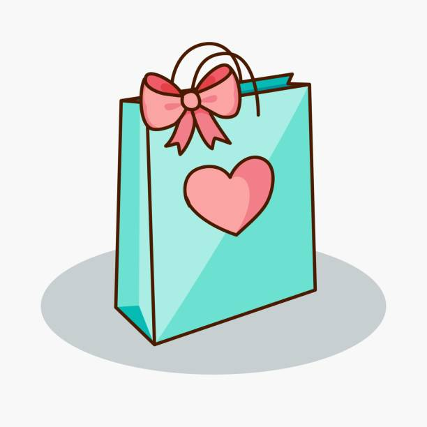 Best Gift Bag Illustrations, Royalty-Free Vector Graphics ...