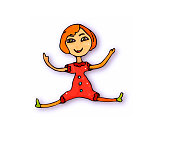 Doodle girl toy cartoon doll on white background