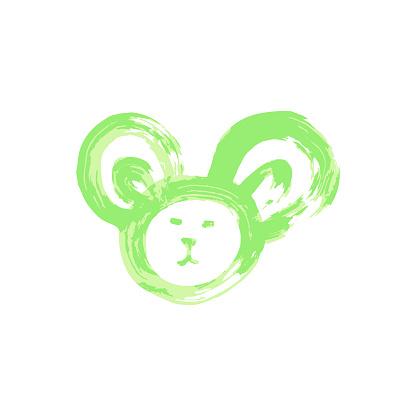 Doodle grunge style icon. Decorative element. Outline, cartoon line icon