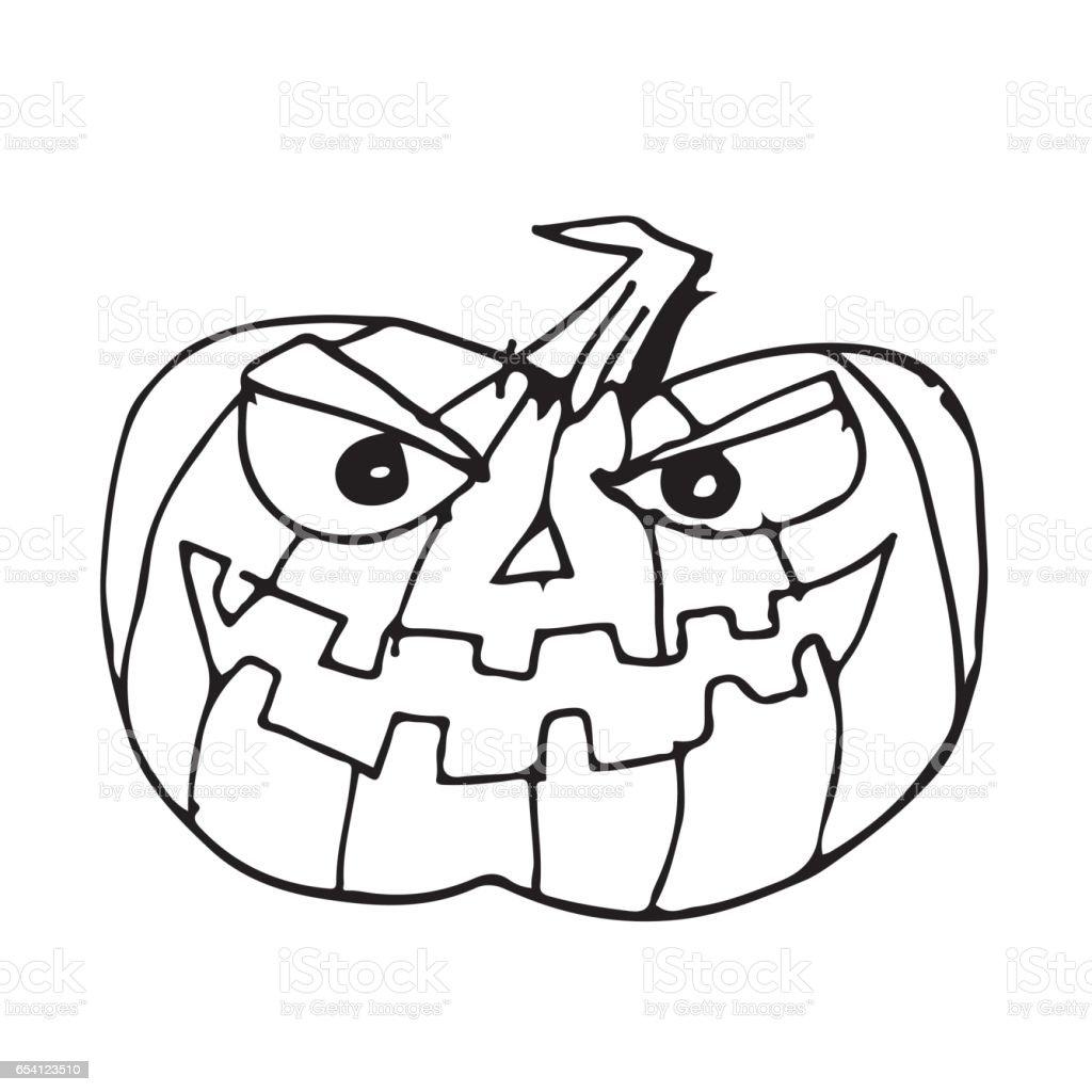 Doodle Halloween Kürbis Symbol Hand Zeichnen Illustration Design