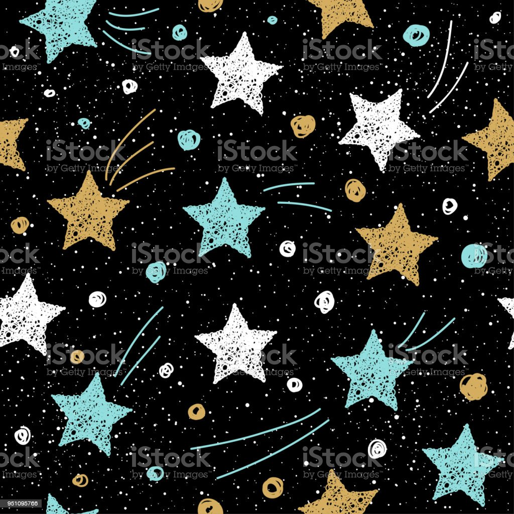 doodle handmade star pattern for design t shirt christmas card new year invitation