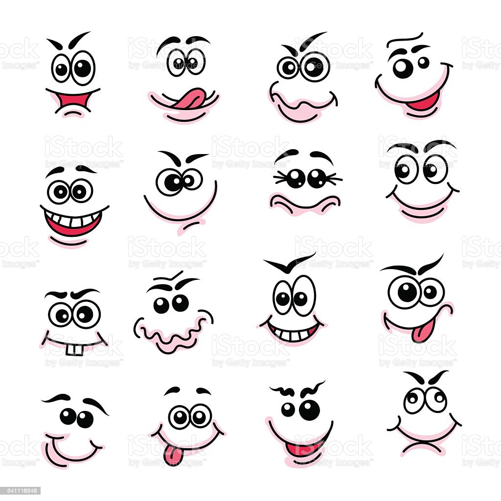 Doodle Happy Faces Stock Vector Art & More Images of ...