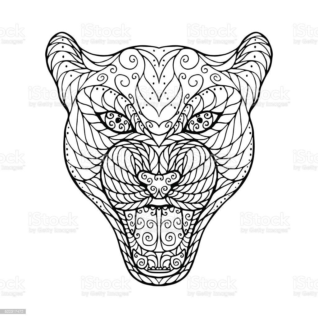 zenbündel kopf der jaguar stock vektor art und mehr bilder