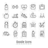 Hand Drawn Icon Set.