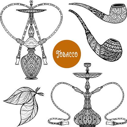 doodle hookah smoke set