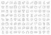 Hand drawn doodle icon set. Vector design elements.