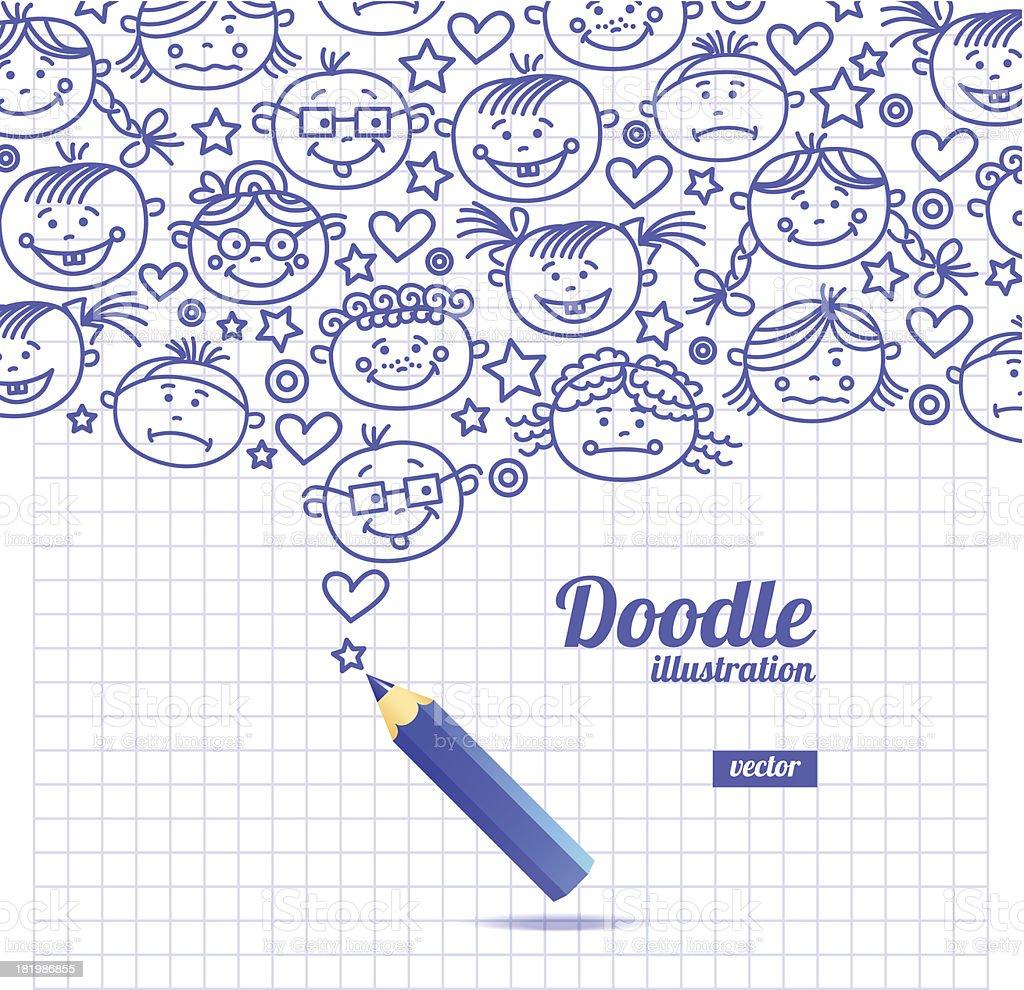Doodle kid cartoon design royalty-free doodle kid cartoon design stock vector art & more images of adult