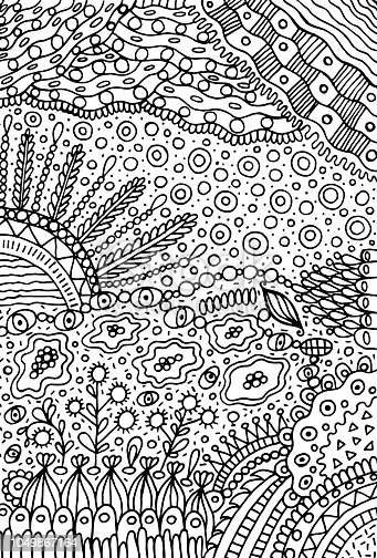 istock Vector ilustración dibujado a mano colorido de rostro de mujer ...