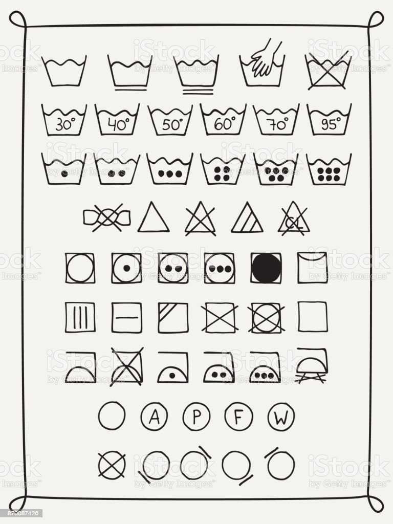 Doodle Laundry Symbols Stock Vector Art More Images Of Advice