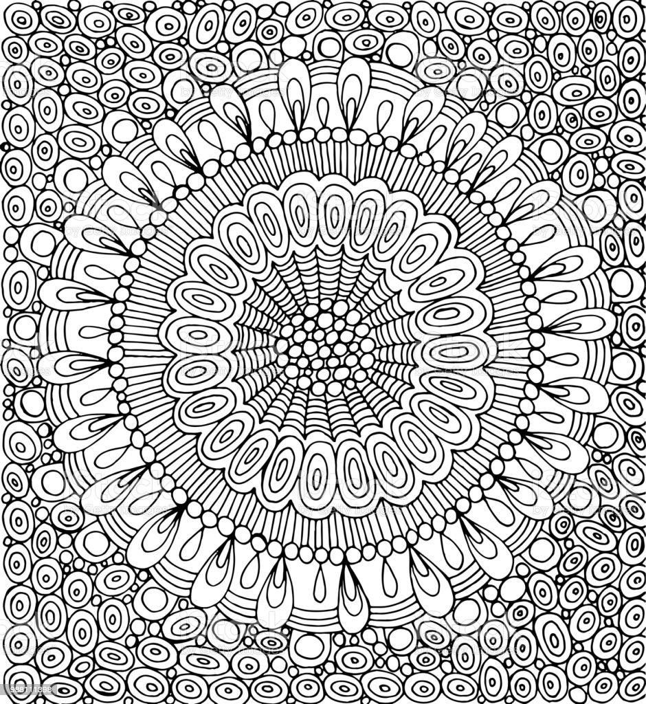 Doodle Mandala With Circle Pattern Background Graphic Artwork ...