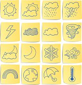 16 Doodle memo icon - weather element
