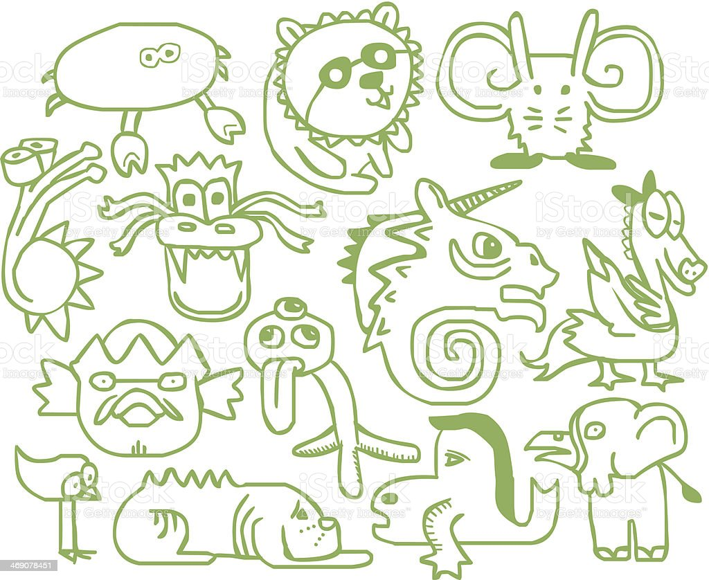 doodle monster royalty-free doodle monster stock vector art & more images of animal