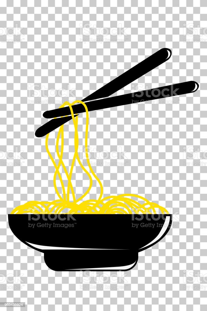 doodle noodle at bowl and Chopstick at transparent effect background royalty-free doodle noodle at bowl and chopstick at transparent effect background stock vector art & more images of asia