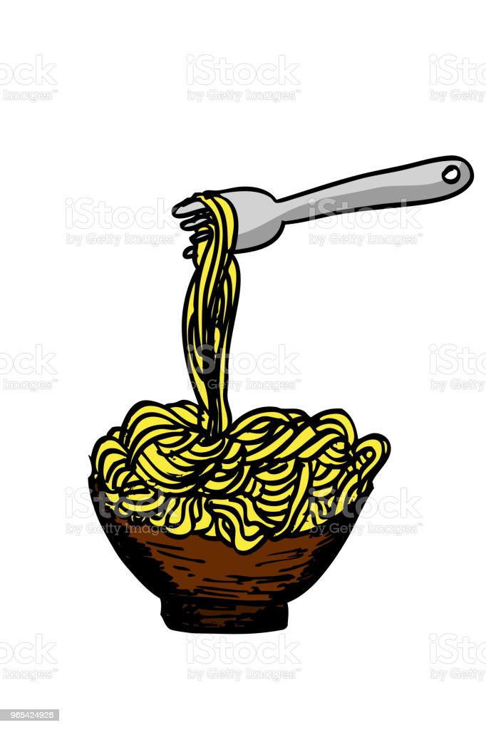 doodle Noodle at bowl and Fork royalty-free doodle noodle at bowl and fork stock vector art & more images of asia
