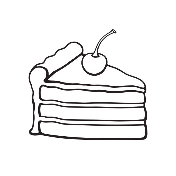 Slice Of Cake Clipart Black And White | Clipart Panda ...  |Cake Slice Clipart Black And White
