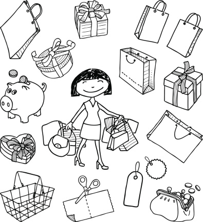 doodle of a shopping