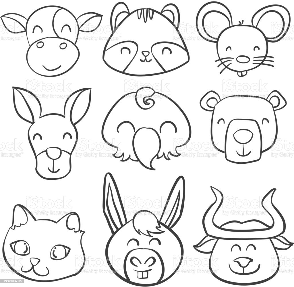 Doodle of animal hand draw style vector illustration royalty-free doodle of animal hand draw style vector illustration stock vector art & more images of animal