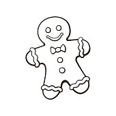 Doodle of Christmas cookies Gingerbread man