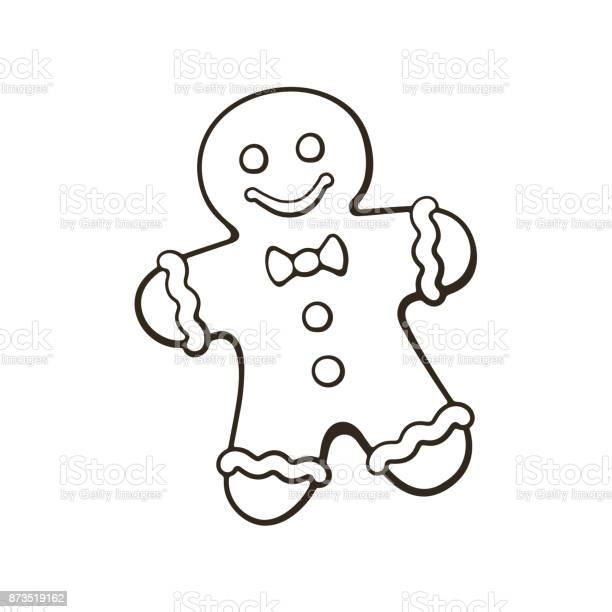 Doodle Of Christmas Cookies Gingerbread Man Stock Illustration - Download Image Now