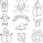 Doodle of christmas object vetcor art illustration