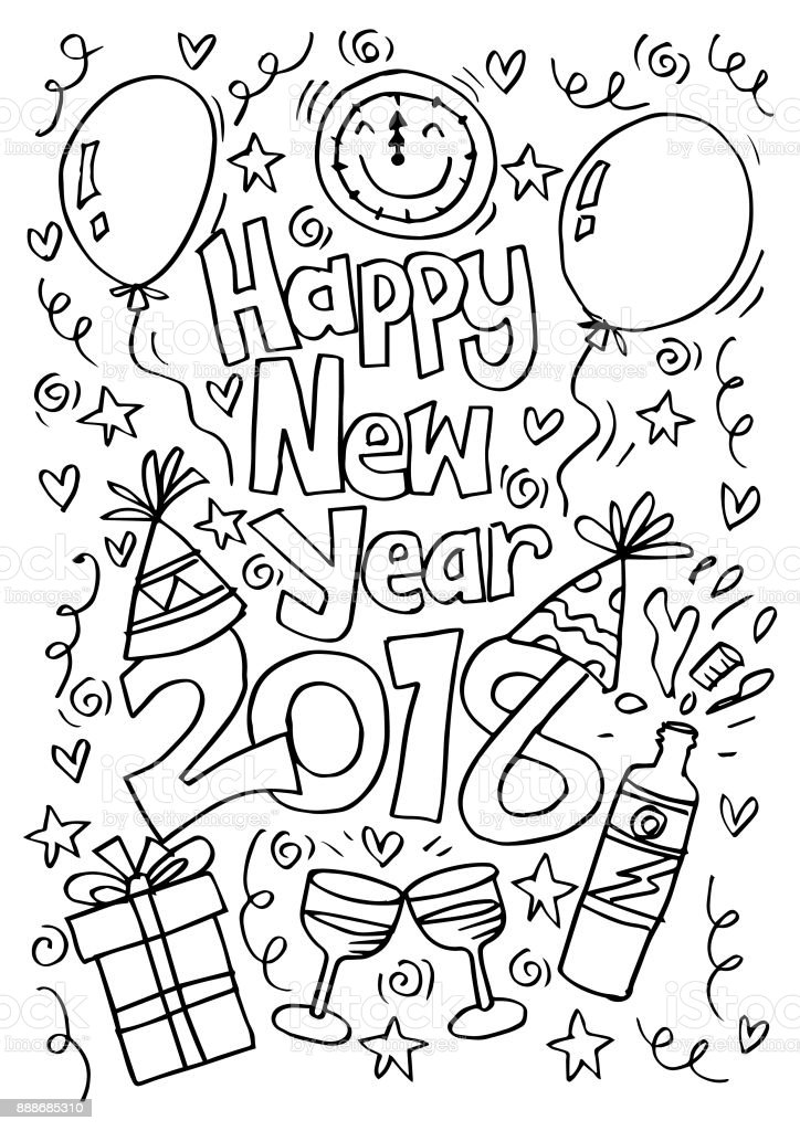 Happy New Year Doodle 11