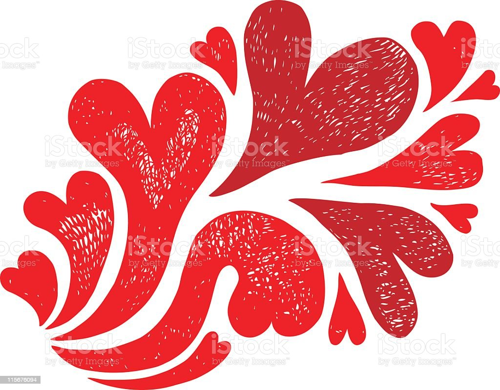Doodle of hearts royalty-free doodle of hearts stock vector art & more images of color image