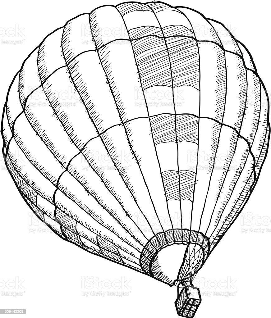 Doodle Of Hot Air Balloon Vector Sketch Up Stock Vector Art & More ...