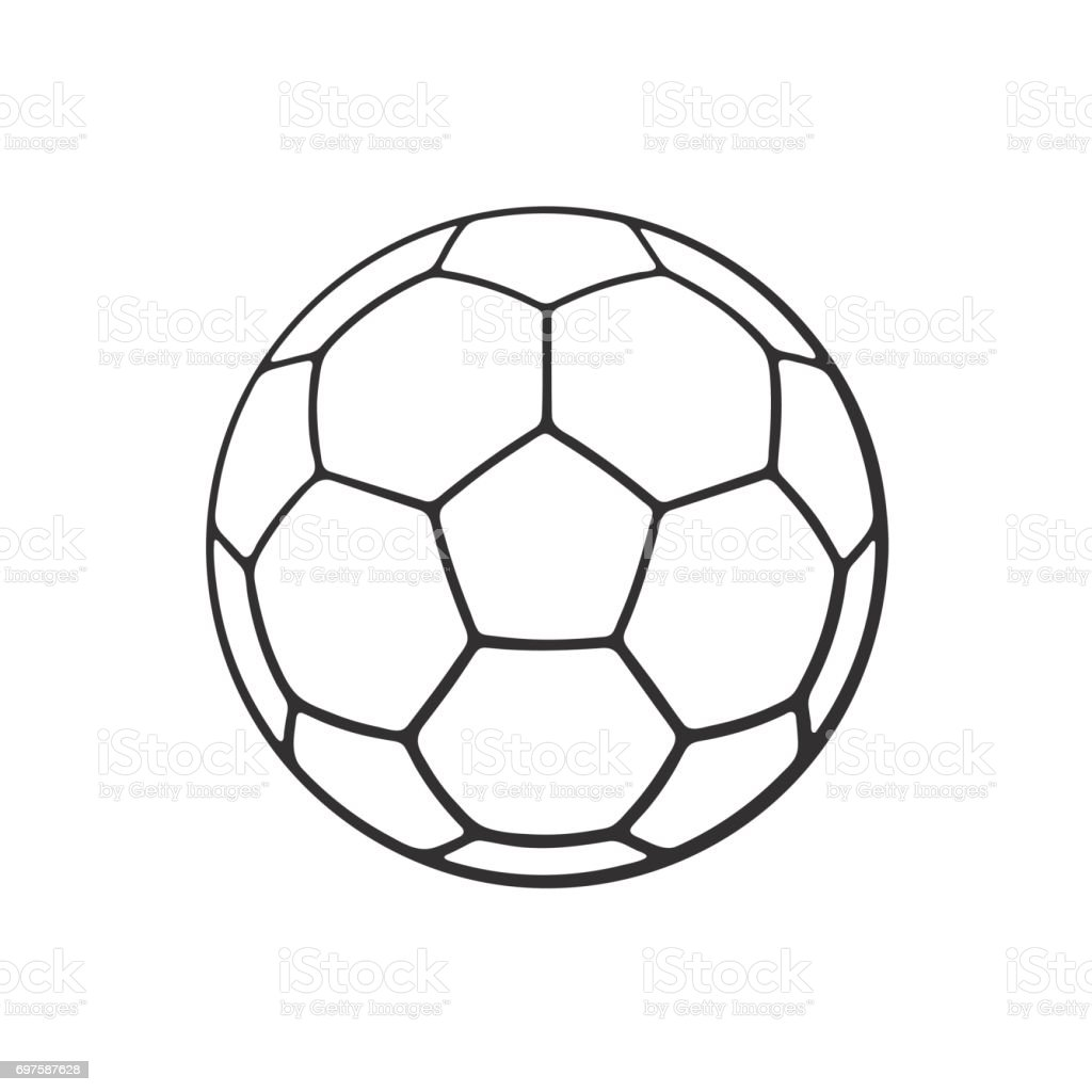 Doodle of leather soccer ball