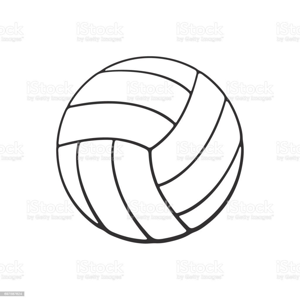 革バレーボール ボールの落書き ベクターアートイラスト
