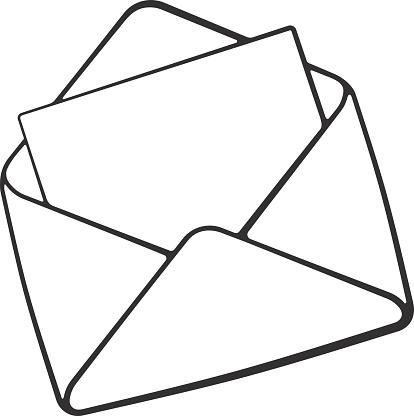 Doodle Of Opened Envelope - Stockowe grafiki wektorowe i więcej obrazów  Atrament - iStock