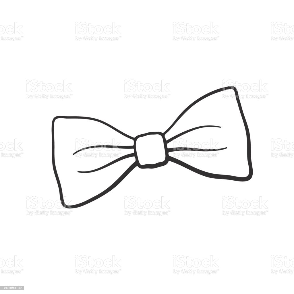 Doodle of retro bow tie vector art illustration