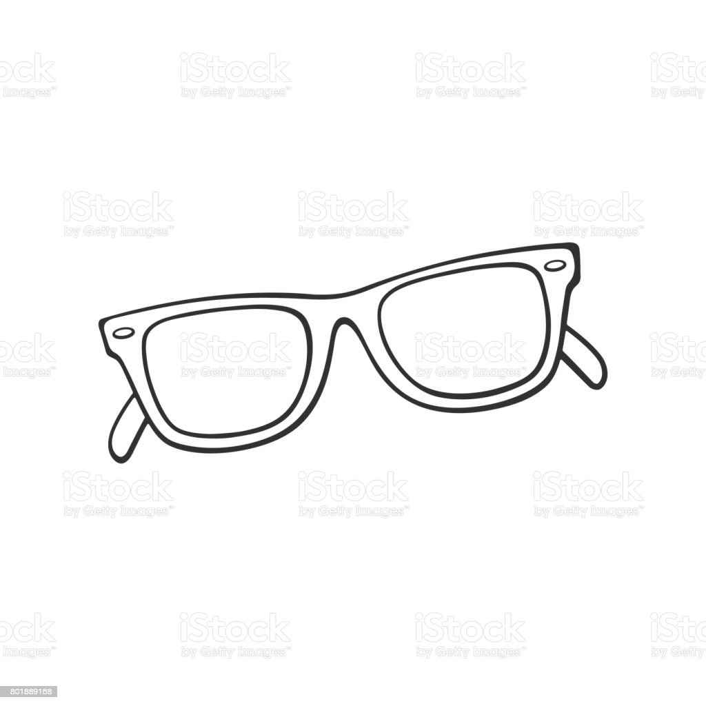 royalty free sunglasses doodle with black ink on white clip art rh istockphoto com sunglasses clip art png sunglass clipart