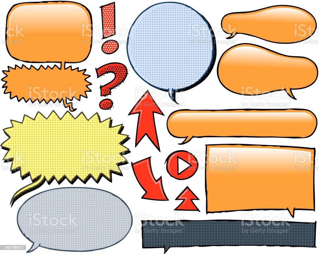 doodle of speech bubble royalty-free stock vector art