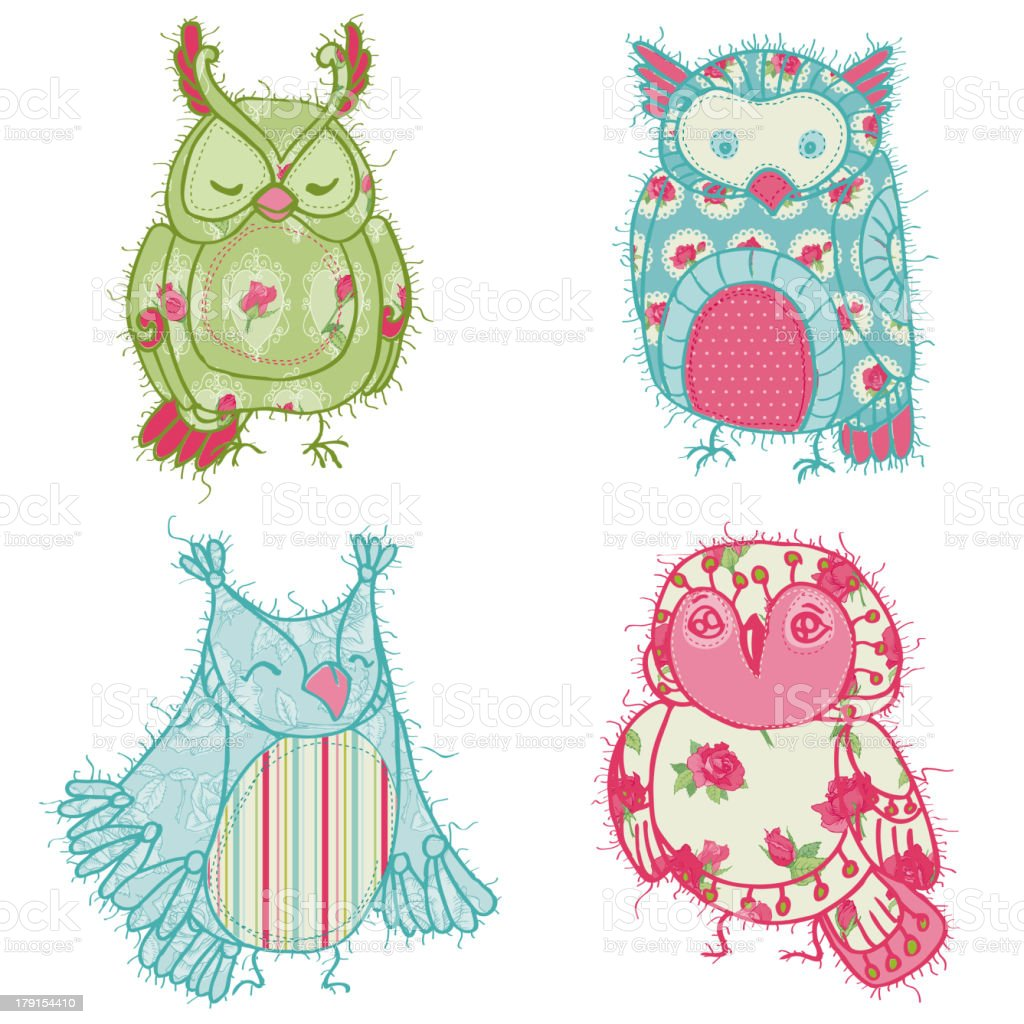 Doodle Owls royalty-free doodle owls stock vector art & more images of bird
