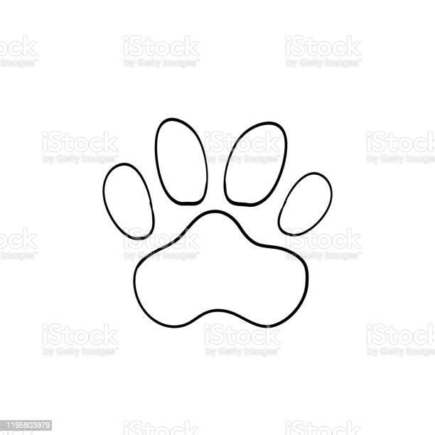 Doodle paw handdrawn cartoon style vector id1195803979?b=1&k=6&m=1195803979&s=612x612&h=ihuc5jefffyk9v zf6nszaagf1zatf hhtr2tsbhbrs=
