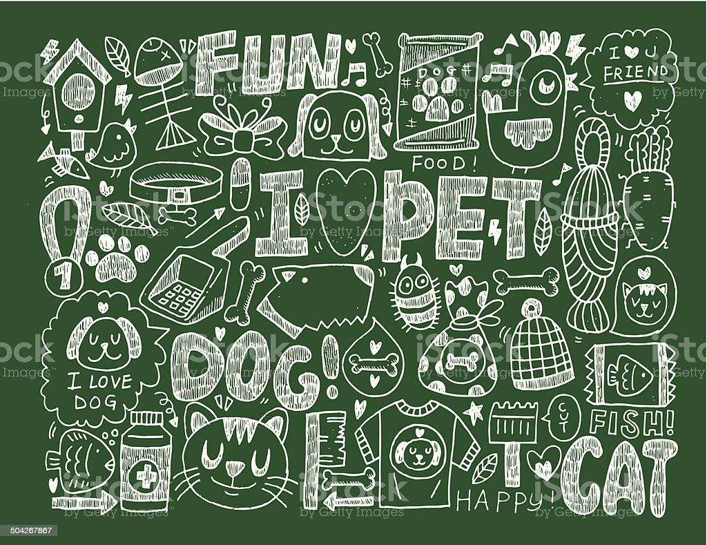 doodle pet background royalty-free doodle pet background stock vector art & more images of animal