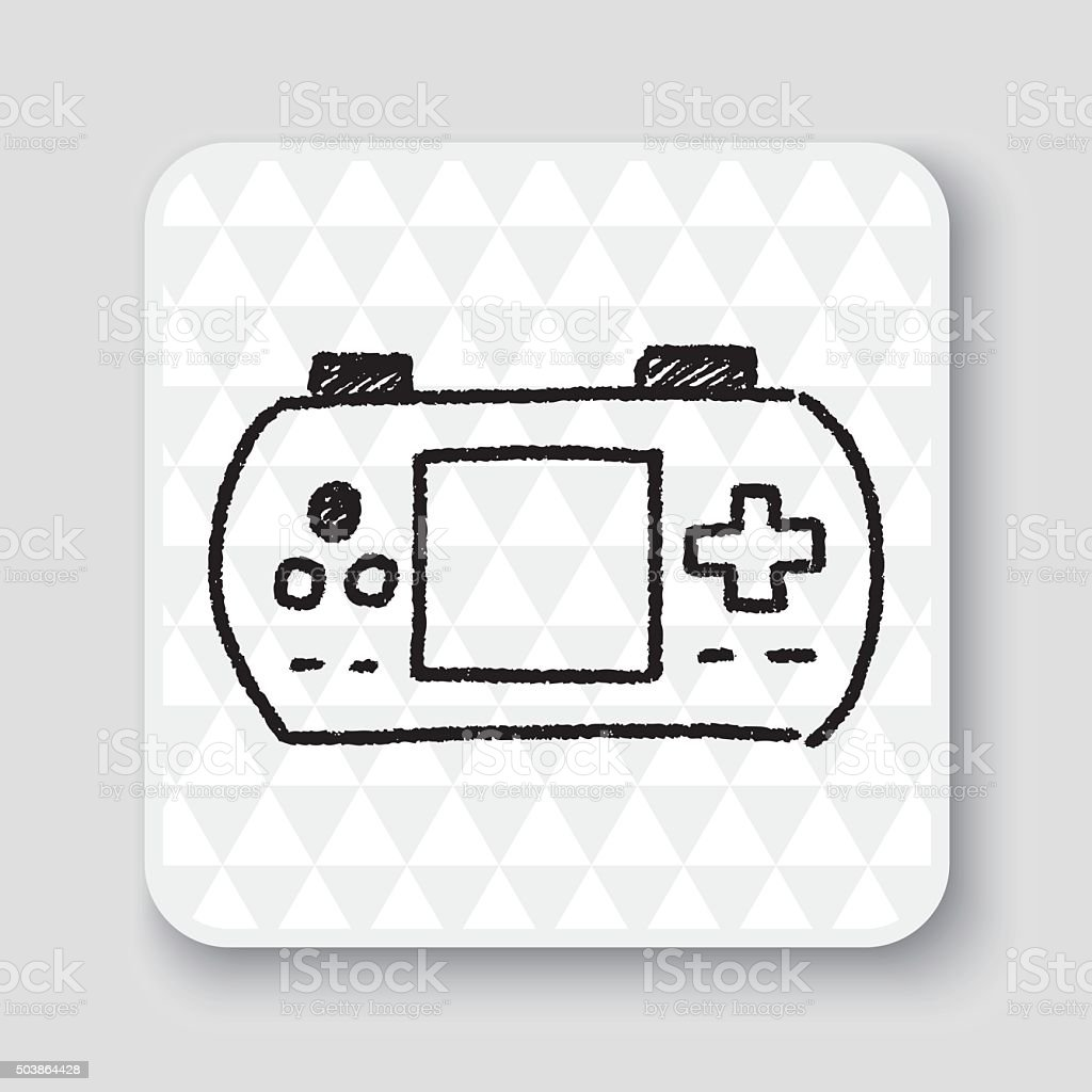doodle pocket game vector art illustration