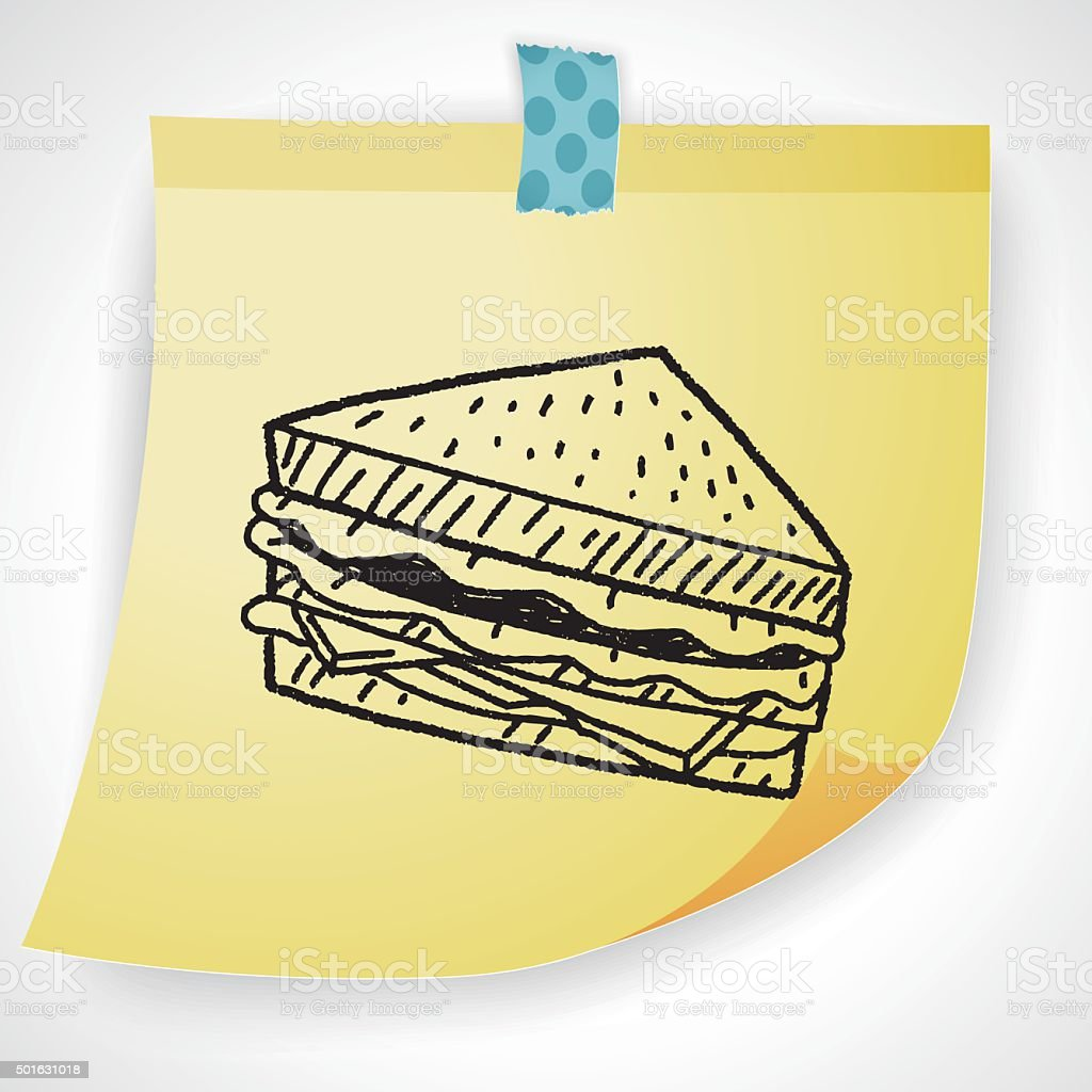 Doodle Sandwich Stock Vector Art & More Images of Backgrounds ...