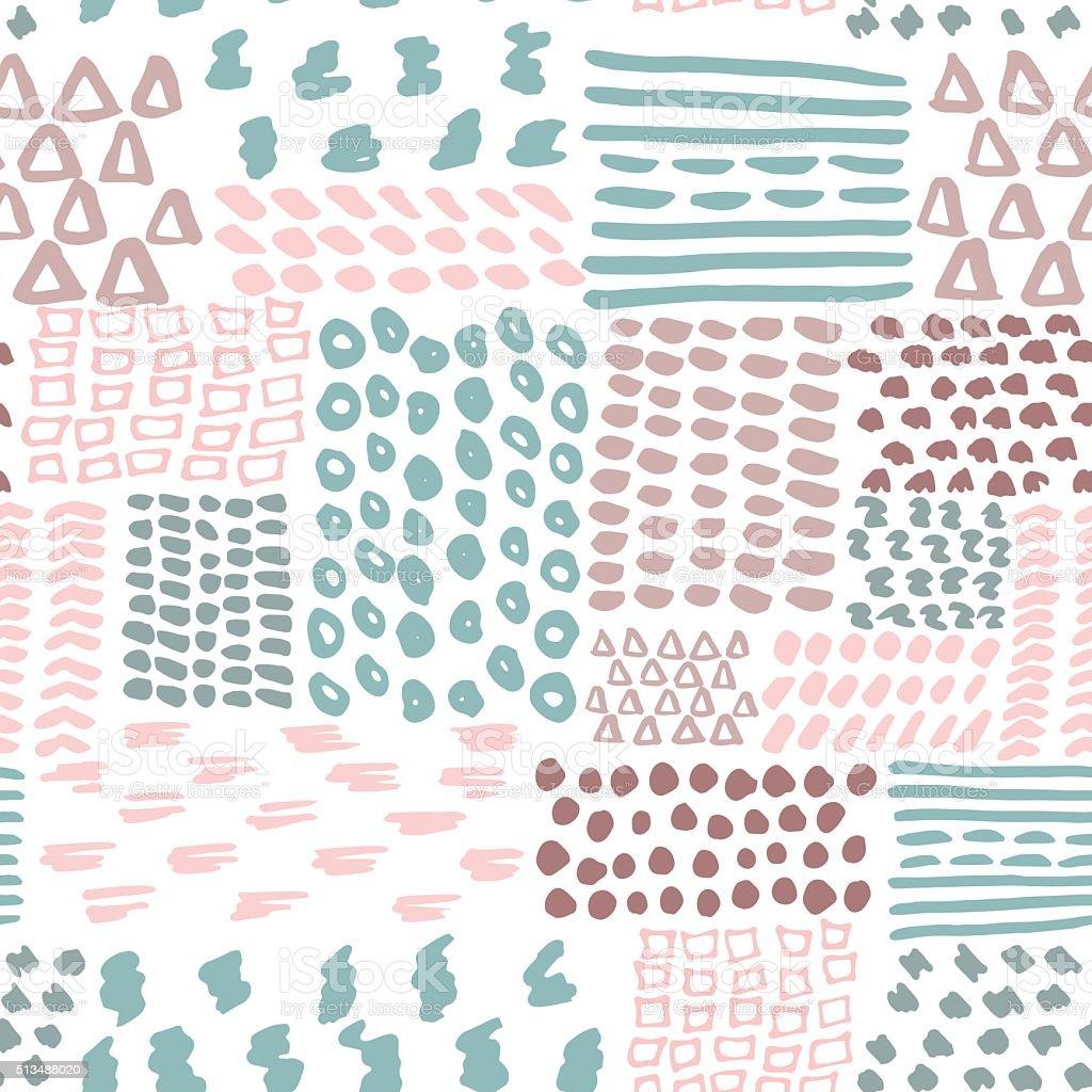 Ilustración de Doodle Sin Costura Patrón Geométrico Ilustración De ...