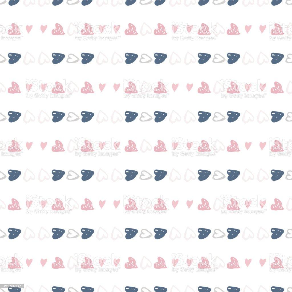 Doodles nahtlose Muster mit Herzen Lizenzfreies doodles nahtlose muster mit herzen stock vektor art und mehr bilder von abstrakt