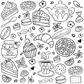 Hand-drawing vector elements.