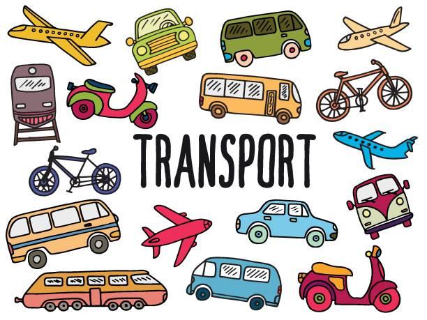 トランスポートと落書きセット - バス点のイラスト素材/クリップアート素材/マンガ素材/アイコン素材