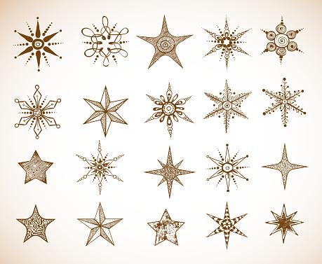 Star tattoo stock illustrations