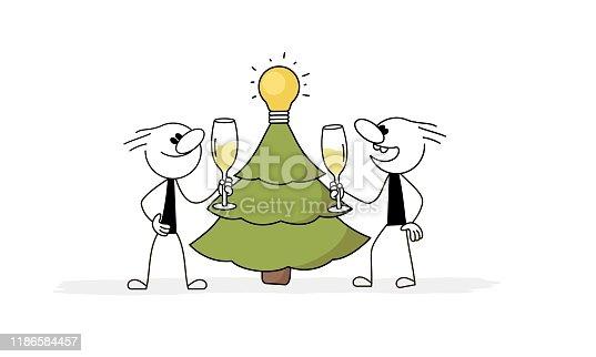 Business metaphor. Hand drawn cartoon vector illustration for business design.