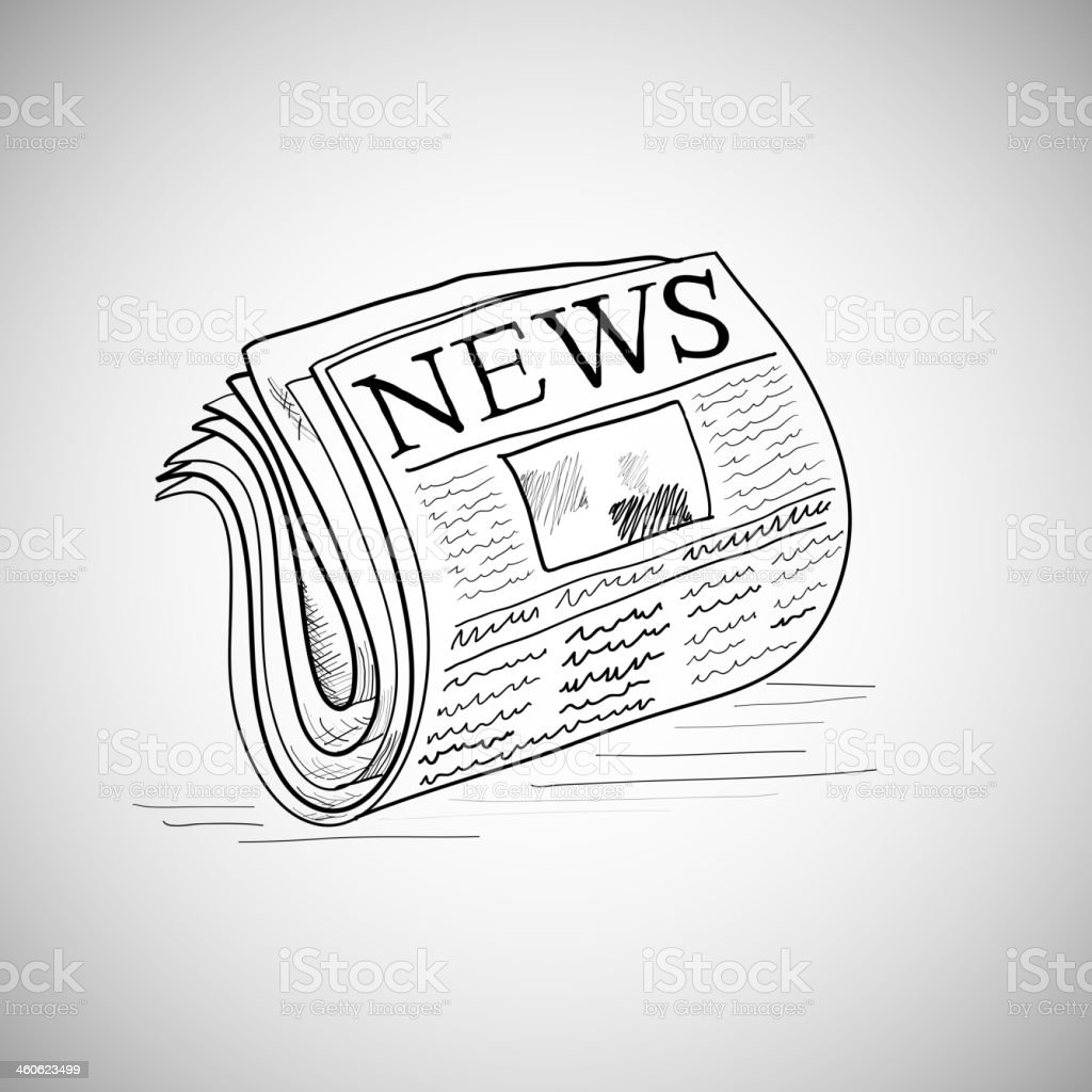 Doodle style newspaper illustration in vector format. royalty-free stock vector art